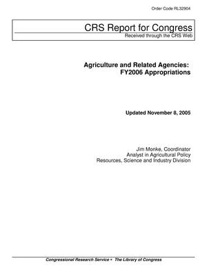 Primary view of object titled 'Agriculture and Related Agencies: FY2006 Appropriations'.