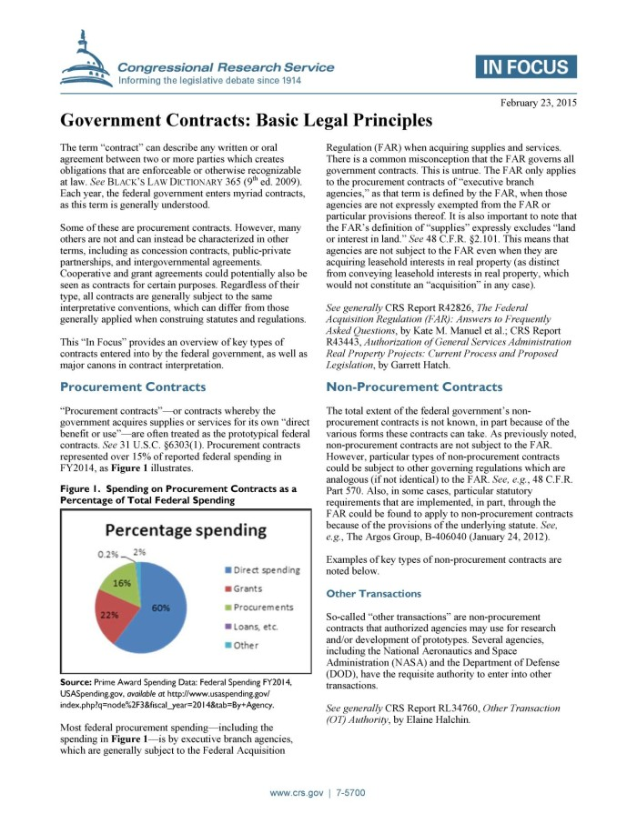Government Contracts: Basic Legal Principles - Digital Library