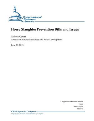 Primary view of object titled 'Horse Slaughter Prevention Bills and Issues'.
