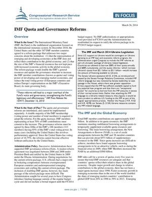 Primary view of object titled 'IMF Quota and Governance Reforms'.