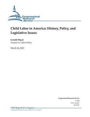 Primary view of object titled 'Child Labor in America: History, Policy, and Legislative Issues'.