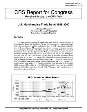 Primary view of object titled 'U.S. Merchandise Trade Data: 1948-2002'.