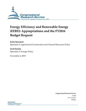 Primary view of object titled 'Energy Efficiency and Renewable Energy (EERE): Appropriations and the FY2016 Budget Request'.