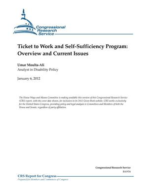 Primary view of object titled 'Ticket to Work and Self-Sufficiency Program: Overview and Current Issues'.