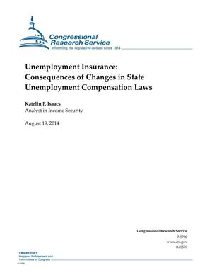 Primary view of object titled 'Unemployment Insurance: Consequences of Changes in State Unemployment Compensation Laws'.
