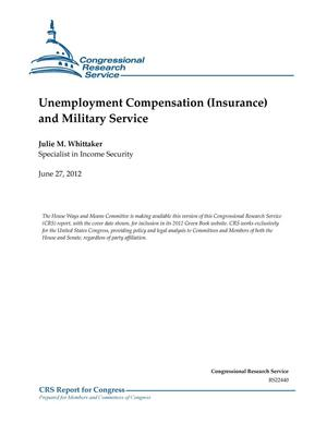 Primary view of object titled 'Unemployment Compensation (Insurance) and Military Service'.