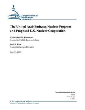Primary view of object titled 'The United Arab Emirates Nuclear Program and Proposed U.S. Nuclear Cooperation'.