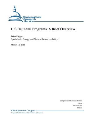 Primary view of object titled 'U.S. Tsunami Programs: A Brief Overview'.