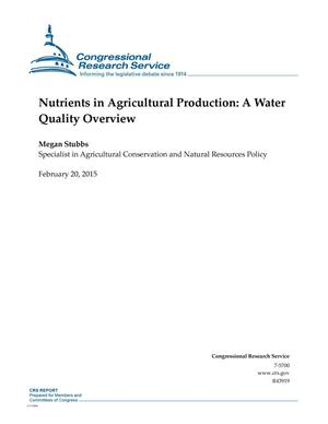 Primary view of object titled 'Nutrients in Agricultural Production: A Water Quality Overview'.