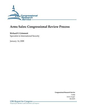 Primary view of object titled 'Arms Sales: Congressional Review Process'.