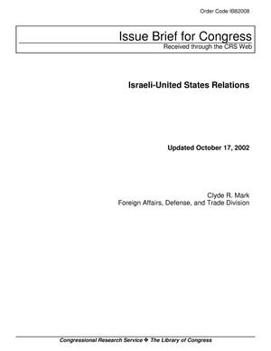 Primary view of object titled 'Israeli-United States Relations'.