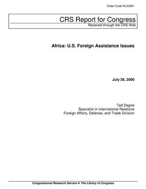 Primary view of object titled 'Africa: U.S. Foreign Assistance Issues'.