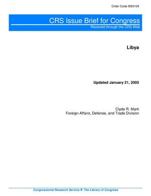 Primary view of object titled 'Libya'.