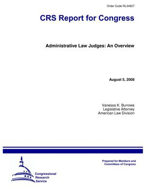 Primary view of object titled 'Administrative Law Judges: An Overview'.