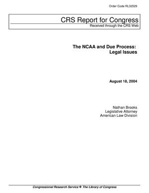 Primary view of object titled 'The NCAA and Due Process: Legal Issues'.