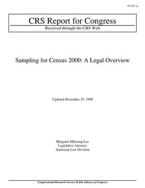 Primary view of object titled 'Sampling for Census 2000: A Legal Overview'.