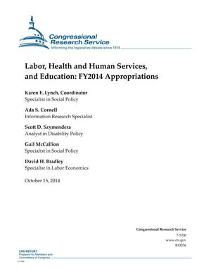 Primary view of object titled 'Labor, Health and Human Services, and Education: FY2014 Appropriations'.