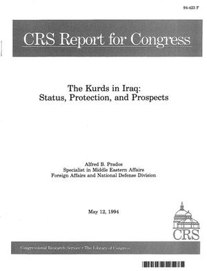 Primary view of object titled 'The Kurds in Iraq : Status, Protection, and Prospects'.
