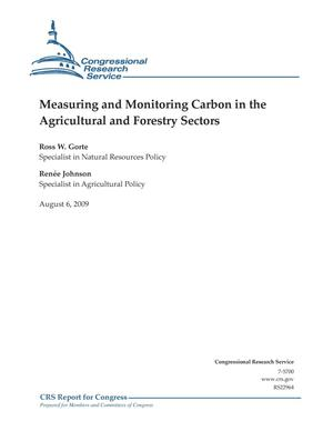 Primary view of object titled 'Measuring and Monitoring Carbon in the Agricultural and Forestry Sectors'.