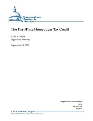 Primary view of object titled 'The First-Time Homebuyer Tax Credit'.