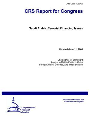 Primary view of object titled 'Saudi Arabia: Terrorist Financing Issues'.