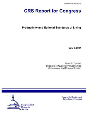 Primary view of object titled 'Productivity and National Standards of Living'.