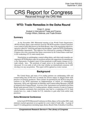 Primary view of object titled 'WTO: Trade Remedies in the Doha Round'.