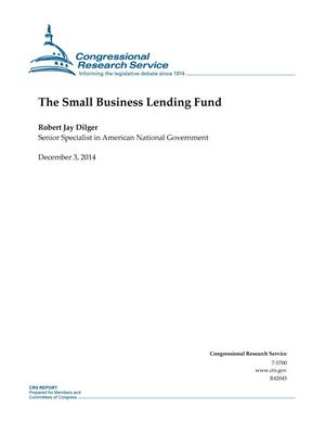 Primary view of object titled 'The Small Business Lending Fund'.