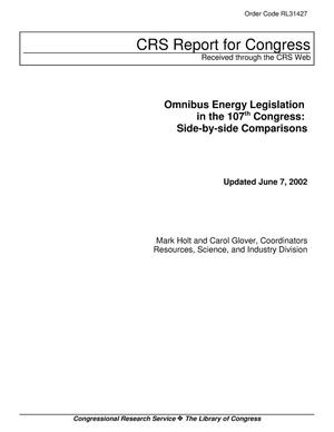 Primary view of object titled 'Omnibus Energy Legislation in the 107th Congress: Side-by-side Comparisons'.