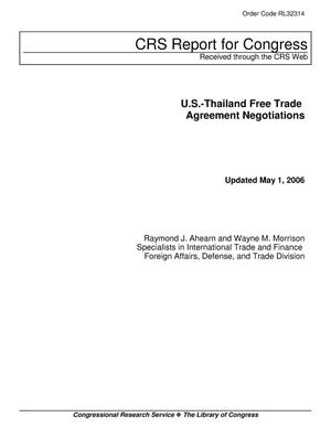 Primary view of object titled 'U.S.-Thailand Free Trade Agreement Negotiations'.