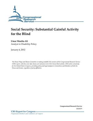 Primary view of object titled 'Social Security: Substantial Gainful Activity for the Blind'.
