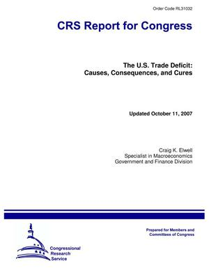 Primary view of object titled 'The U.S. Trade Deficit: Causes, Consequences, and Cures'.