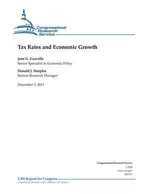 Primary view of object titled 'Tax Rates and Economic Growth'.