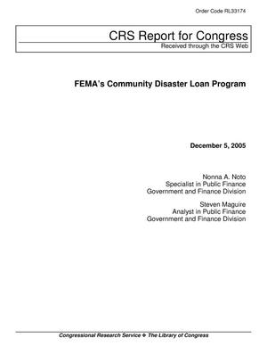 Primary view of object titled 'FEMA's Community Disaster Loan Program'.