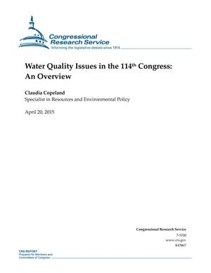 Primary view of object titled 'Water Quality Issues in the 114th Congress: An Overview'.