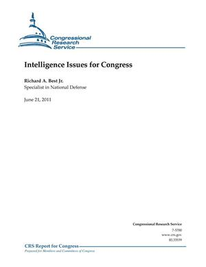Primary view of object titled 'Intelligence Issues for Congress'.