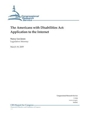 Primary view of object titled 'The Americans with Disabilities Act: Application to the Internet'.