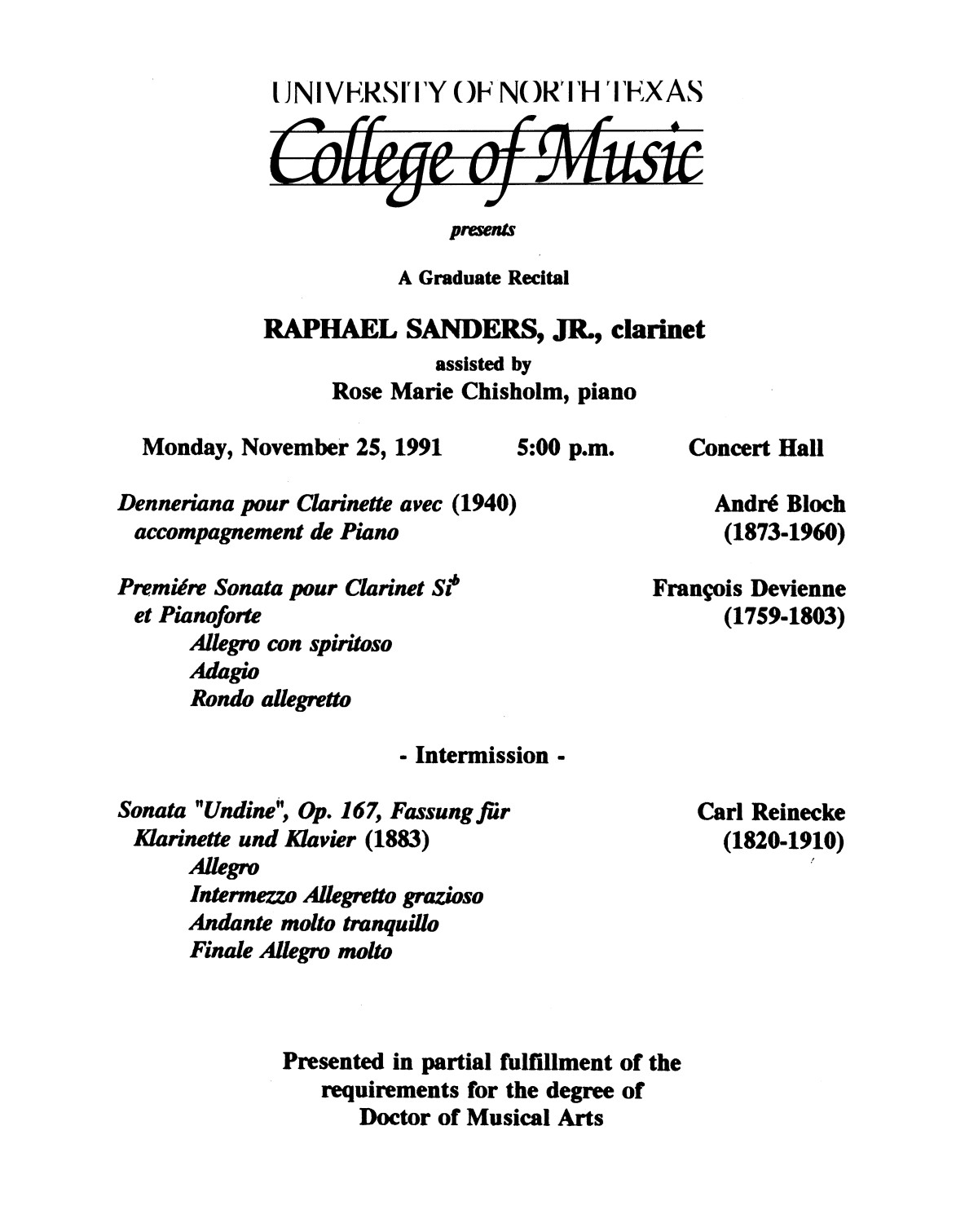 College of Music program book 1991-1992 Student Performances Vol. 2                                                                                                      [Sequence #]: 84 of 310