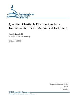 Primary view of object titled 'Qualified Charitable Distributions from Individual Retirement Accounts: A Fact Sheet'.