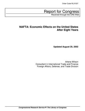 Primary view of object titled 'NAFTA: Economic Effects on the United States After Eight Years'.