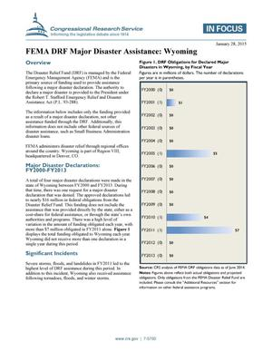 Primary view of object titled 'FEMA DRF Major Disaster Assistance: Wyoming'.