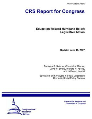 Primary view of object titled 'Education-Related Hurricane Relief: Legislative Action'.