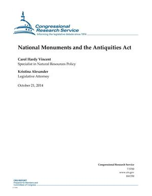 Primary view of object titled 'National Monuments and the Antiquities Act'.
