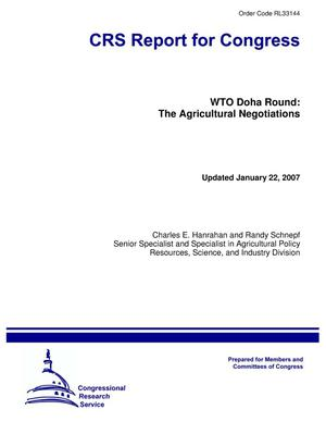 Primary view of object titled 'WTO Doha Round: The Agricultural Negotiations'.