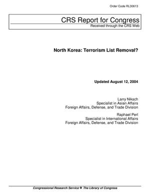 Primary view of object titled 'North Korea: Terrorism List Removal?'.