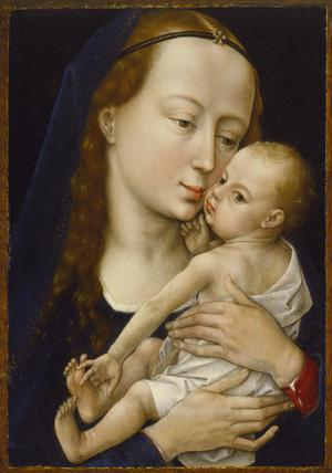 Primary view of object titled 'Virgin and Child'.