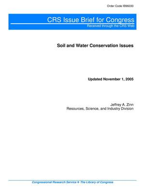 Primary view of object titled 'Soil and Water Conservation Issues'.