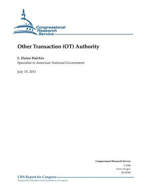 Primary view of object titled 'Other Transaction (OT) Authority'.
