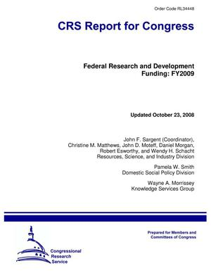 Primary view of object titled 'Federal Research and Development Funding: FY2009'.