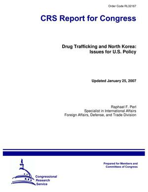 Primary view of object titled 'Drug Trafficking and North Korea: Issues for U.S. Policy'.